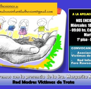 Miércoles 18 de septiembre – 9 hs, Cámara Penal San Martín 207- 1º piso – Puerto Madryn.