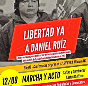 Frente a la falta de respuestas del Tribunal Oral Número 3 , Daniel Ruiz inicia una huelga de hambre