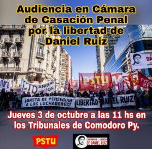 ¡Hagamos fuerza para sacar de la cárcel Daniel Ruíz!