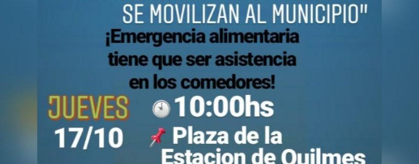 ¡¡Martiniano Molina, cumpla con lo comprometido: Asistencia a los Comedores YA!!