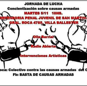 JORNADA CONTRA LAS CAUSAS ARMADAS EN VILLA BALLESTER, PARTIDO DE SAN MARTÍN
