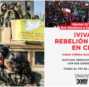 Movilización por la resistencia en Rojava y la lucha popular en Chile