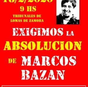 Absolución a Marcos Bazán. Verdad y Justicia Para Anahí Benítez