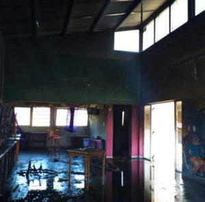 Jornadas de solidaridad y limpieza tras el incendio en Casa Joven Diana Sacayán