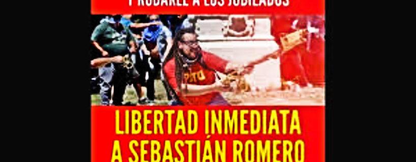 ¡Inmediata libertad a Sebastián Romero!