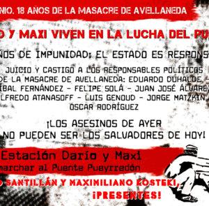 ¡Este viernes 26 Tod@S al Puente Pueyrredón!