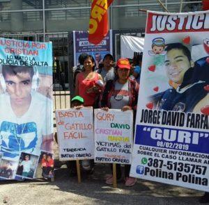 Marcha por Justicia para lxs asesinadxs por la Policía salteña