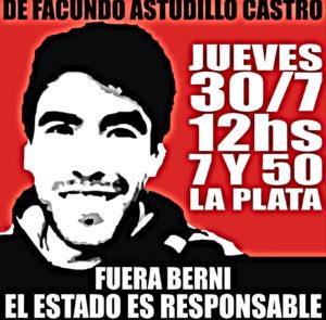 Corte y marcha en La Plata por  aparición con vida ya de Facundo Astudillo Castro