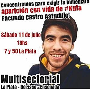 Concentración por la aparición con vida de Facundo Astudillo Castro
