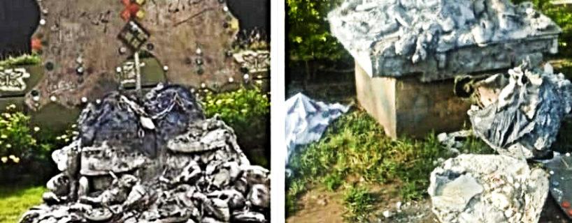 Paren de violentarnos: rompieron la escultura frente a Cromañón