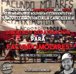 Le quitaron los grilletes al periodista Facundo Molares pero aún sigue preso
