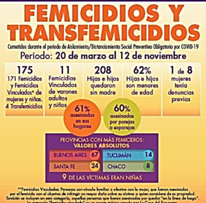 Pandemia de género: 175 femicidios