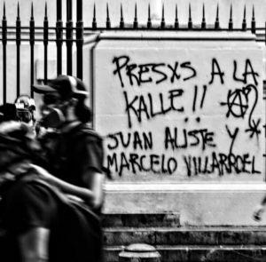 «Por la liberación de lxs presxs de la guerra social, de la Revuelta y de la Liberación Mapuche»