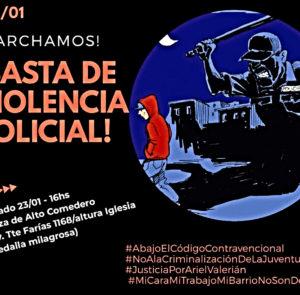 Marcha contra la represión estatal