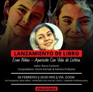 Lanzamiento del Libro  «Eran niñas- Aparición con vida de Lichita»