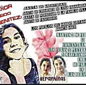 2 de febrero: jornada de lucha por la aparición con vida de Lichita, justicia para Lilian y María Carmen, y por la libertad de Laura Villalba