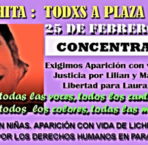 Todxs a Plaza de Mayo por la Aparición con Vida de «Lichita» Villalba