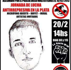 20/2 – Jornada Antirrepresiva a 8 años sin Omar Cigarán