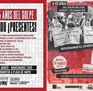24-M: Marcha de Congreso a Plaza de Mayo