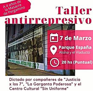 """""""Taller antirrepresivo:  de Justicia x los 7 para todxs"""""""