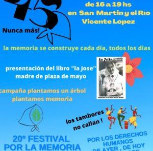 ¡Festival por la memoria  y el nunca más Vicente López!