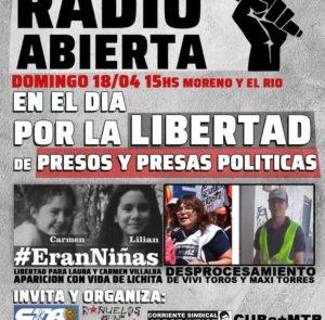 Radio abierta en el Día Internacional por la Libertad de Presos y Presas Políticas