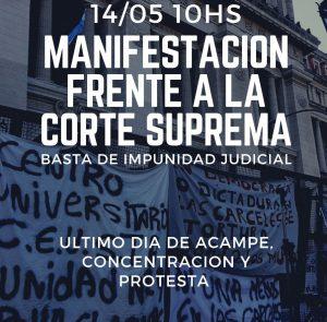 Último día de acampe y resistencia frente a la Corte Suprema de Justicia de la Nación