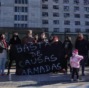 Concentración en Comodoro Py por la Libertad de Maxi Vera Buenaga