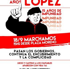 A 15 años de la segunda desaparición forzada de Jorge Julio López