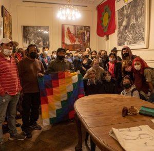 Wichís con otras comunidades y estudiantes del colegio Pueyrredón