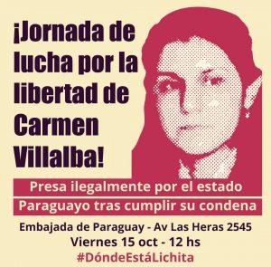 Jornada de Lucha por la Libertad de Carmen Villalba
