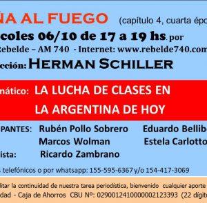 """Leña al fuego: """"La lucha de clases en la Argentina de hoy"""""""