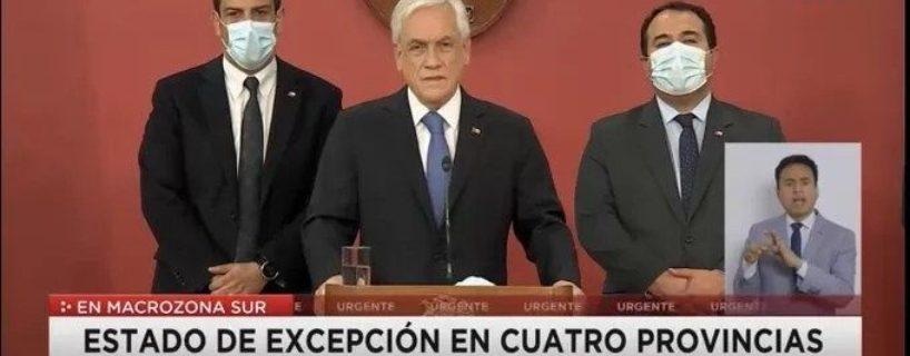 Piñera decreta exterminio a comunidades en resistencia: Golpe de Estado en Ngulumapu!