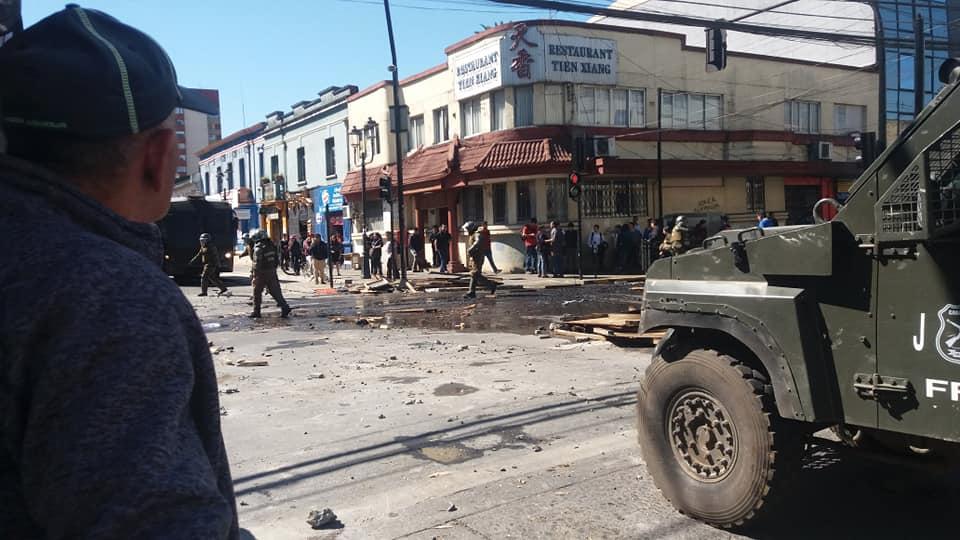 Represión en Temuco