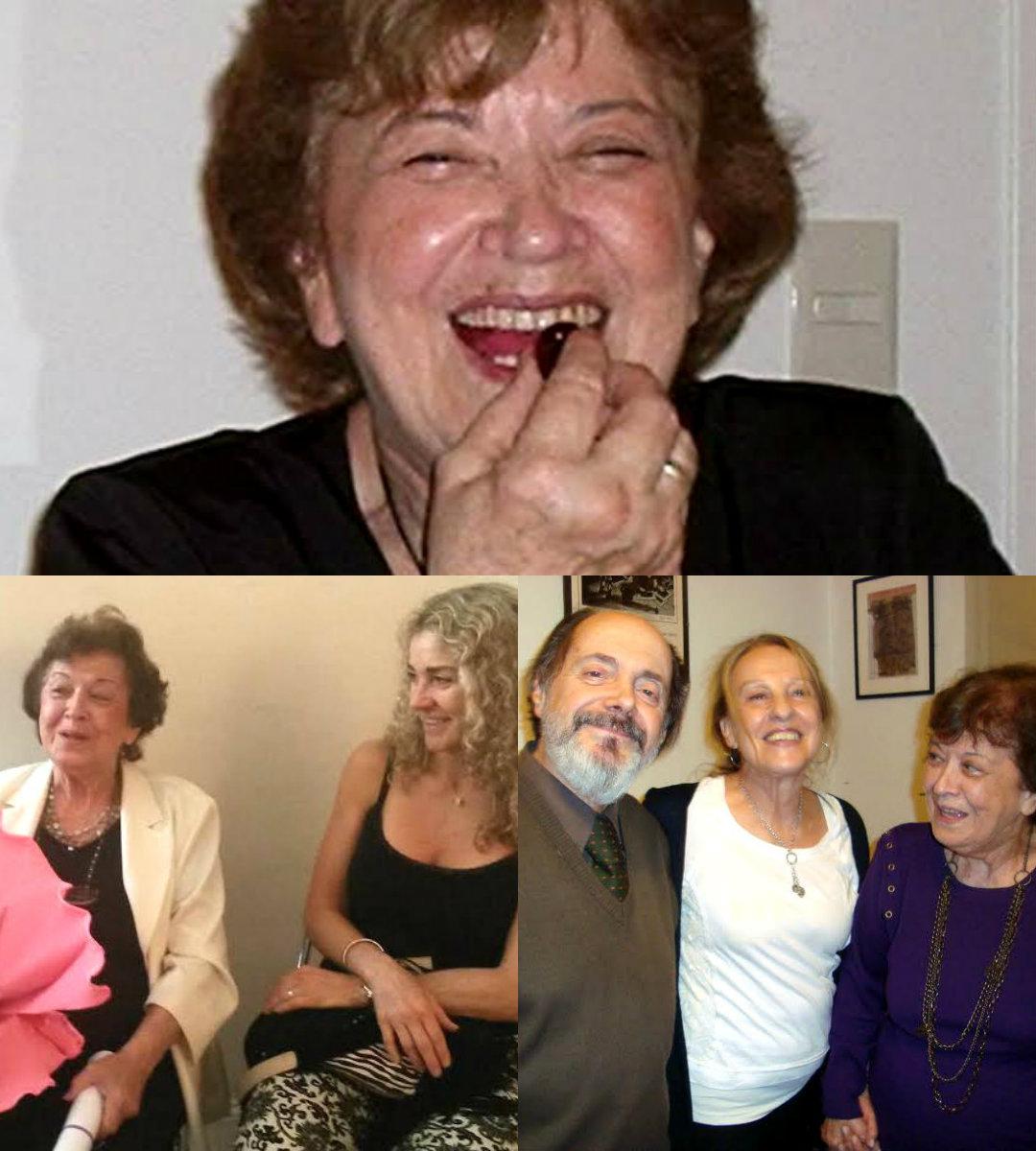 Arriba: Lelia/Abajo Izquierda, ella conversando con Gabriela Gamboa/ Derecha: Con Susana Gerszenzon y Alfredo Grande