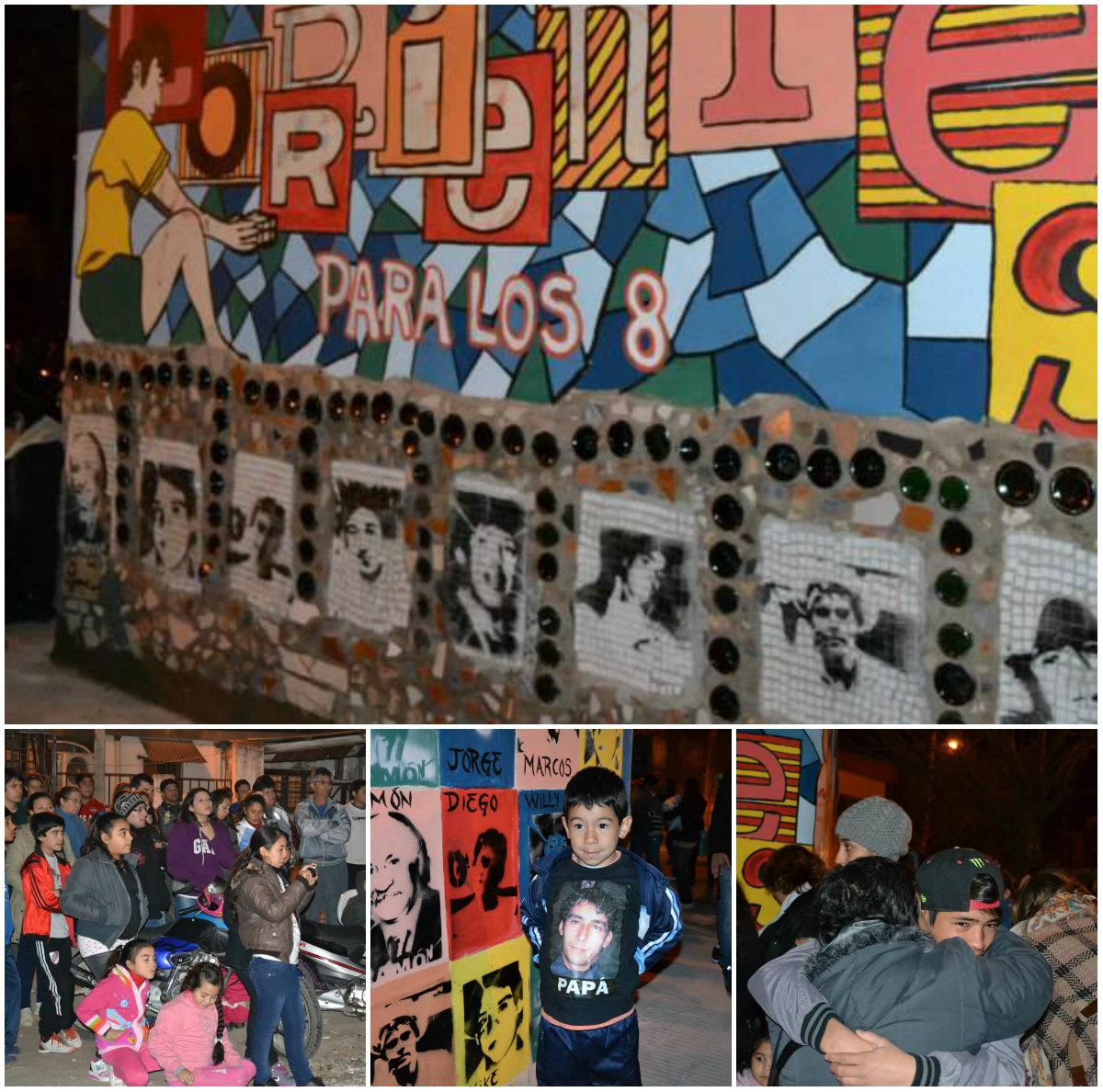 Mural por los 8 (Fotos María Bar)