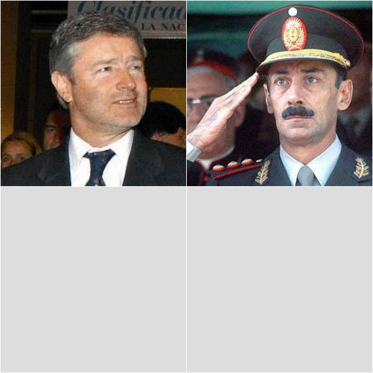 Julio Saguier y dictador Videla