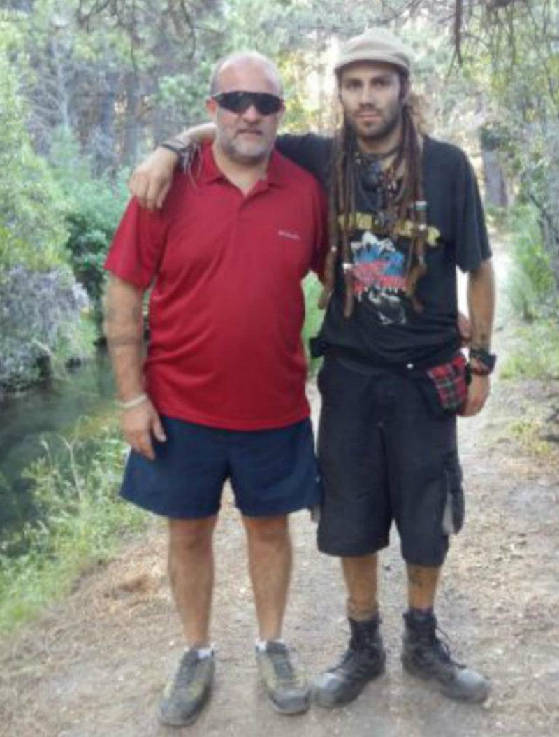 Sergio y Santiago Maldonado (foto archivo personal familia Maldonado)