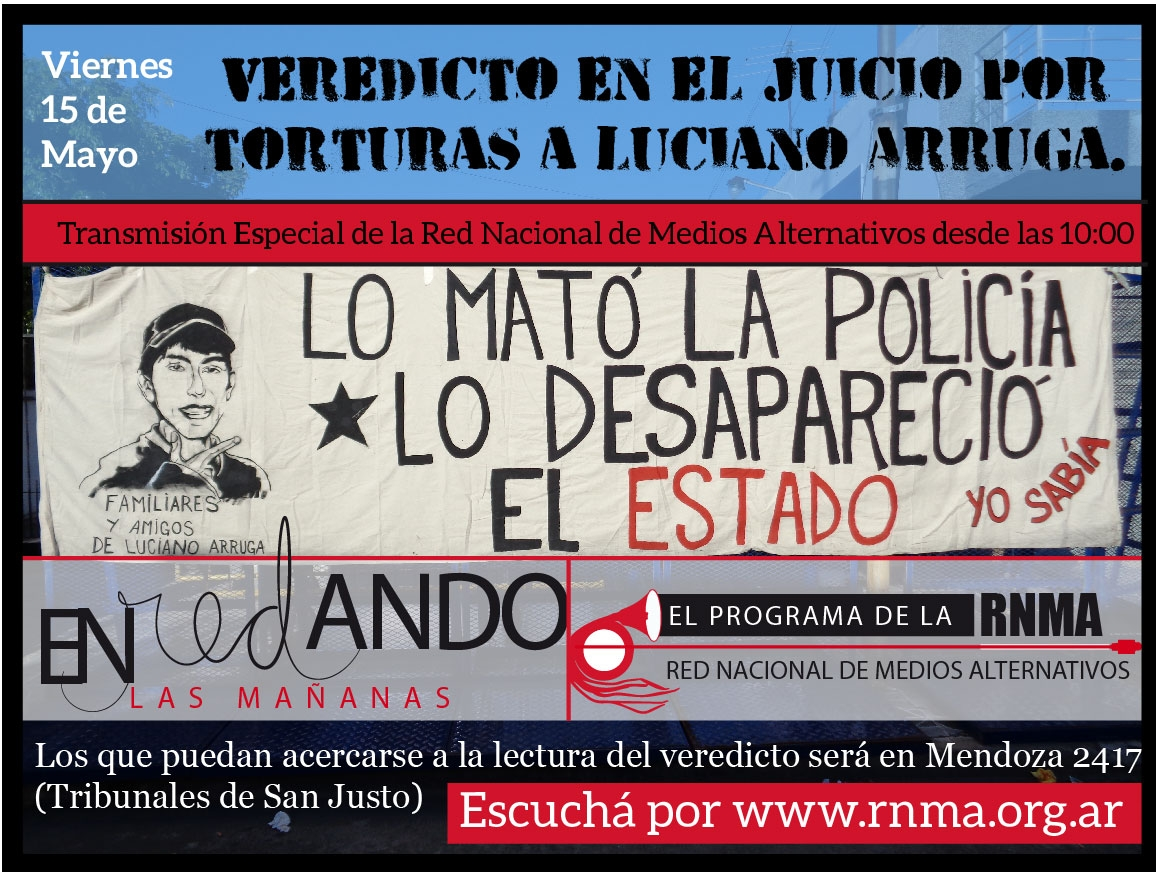 Veredicto en el juicio por torturas a Luciano Arruga