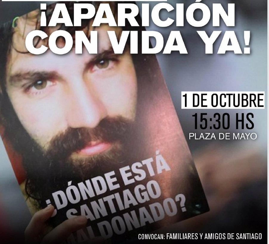 Acto 1° octubre- Aparición con vida de Santiago Maldonado