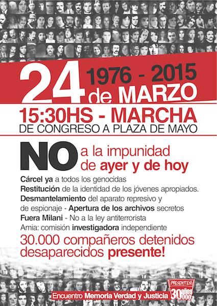 Encuentro Memoria, Verdad y Justicia - A 39 años del golpe genocida