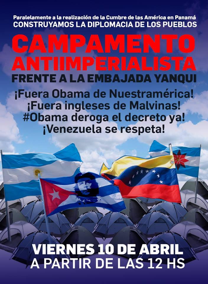 Frente a la embajada yanqui por Venezuela