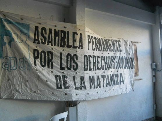 Nuestra solidaridad con la APDH-La Matanza