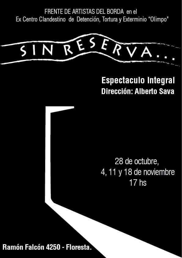 """Sin reserva..."