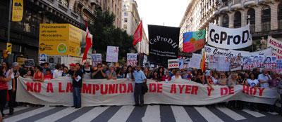 Atentados políticos: Repudio del Encuentro Memoria, Verdad y Justicia