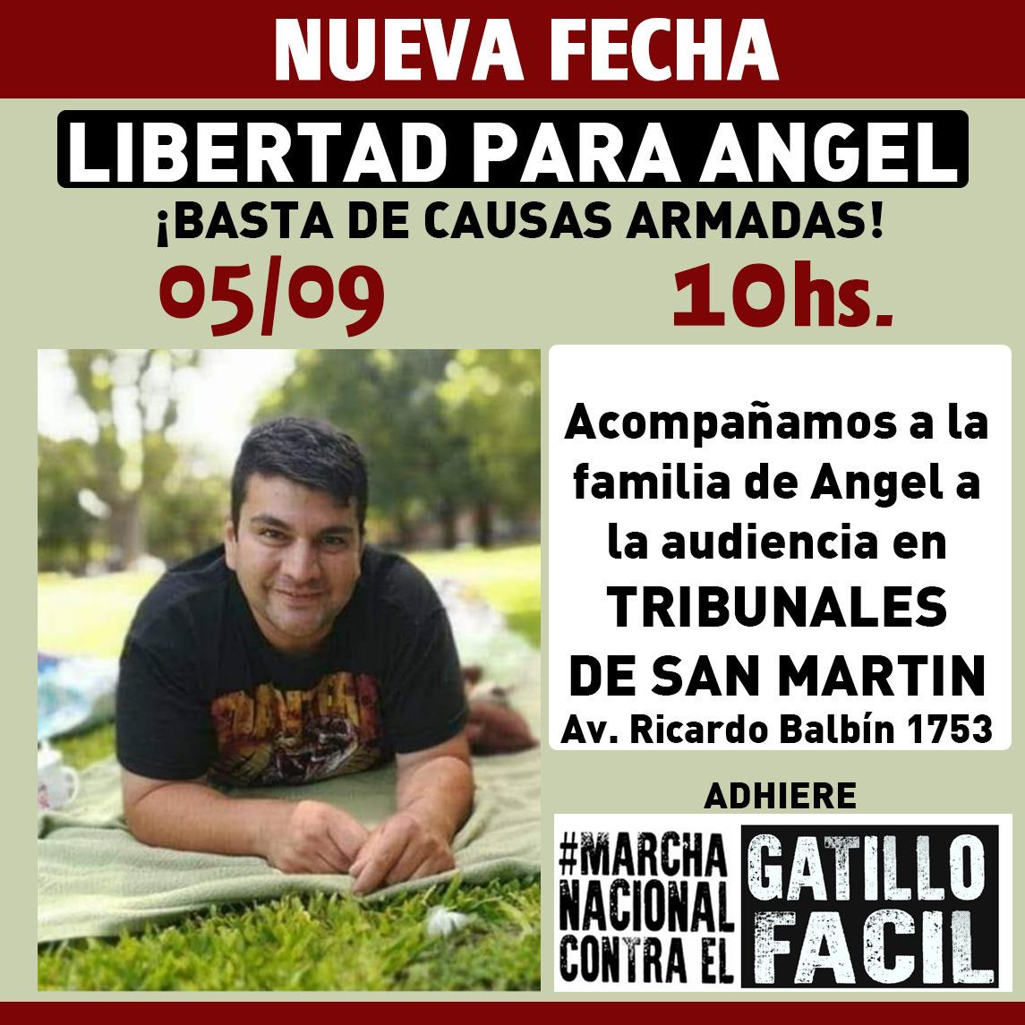 5/9 - Todos a Tribunales de San Martín por la libertad de Ángel Bramajo