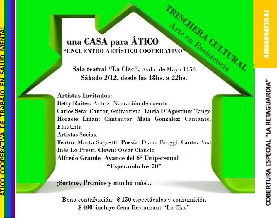 Ático: Encuentro artístico cooperativo en Trinchera Cultural