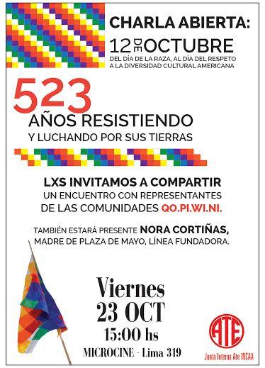 Charla/debate con miembros de las comunidades Qom, Pilagá, Wichí, Nivaclé y Nora Cortiñas