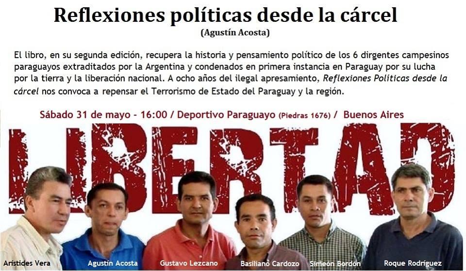 Presentación del Libro de Agustín Acosta, preso en Paraguay