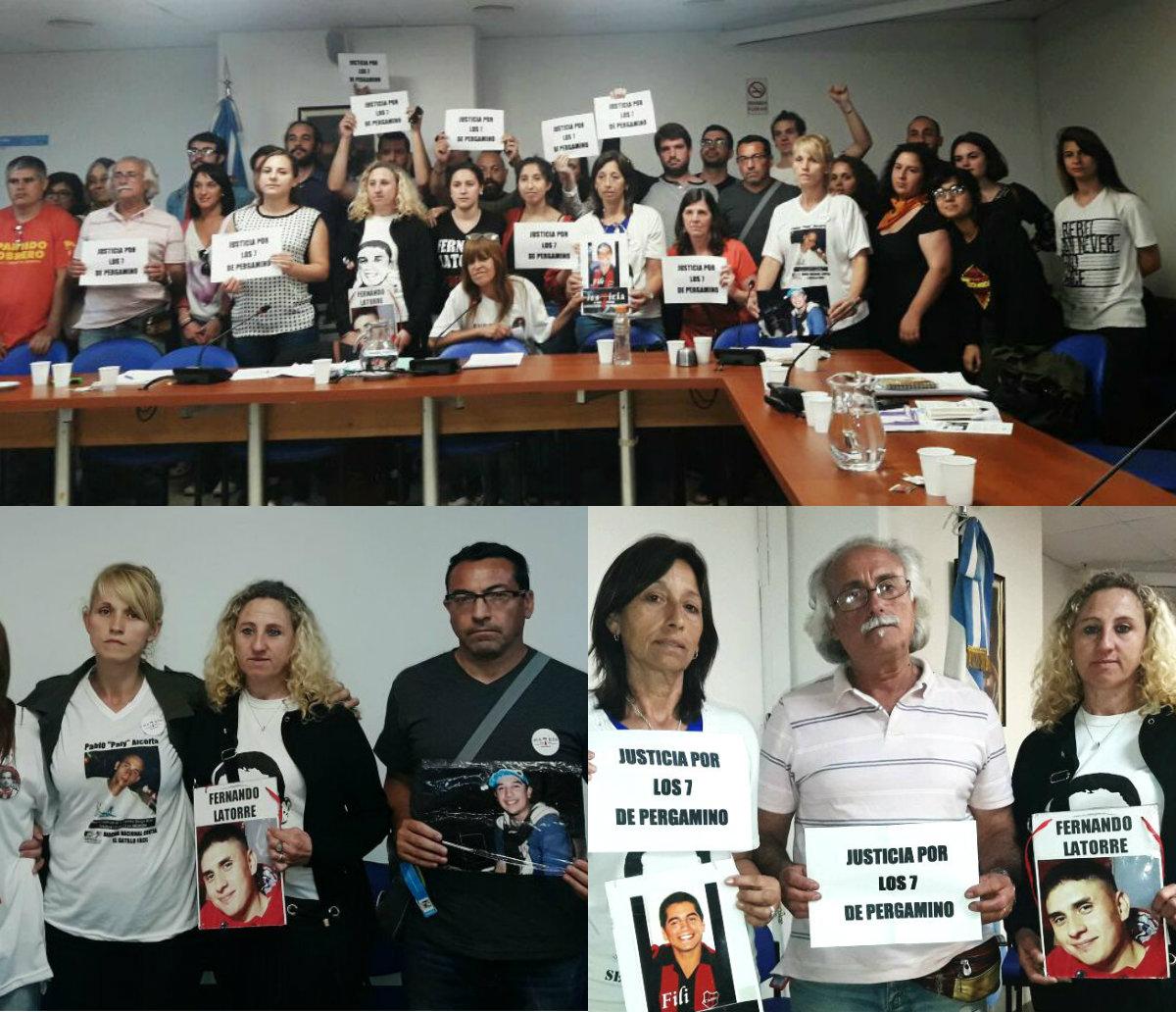 El grito de los 7 asesinados en Pergamino retumbó en el Congreso de la Nación